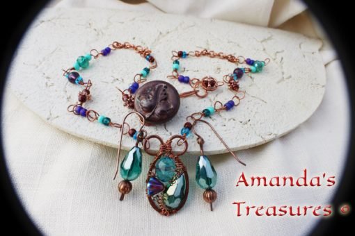 Hand Wrapped Copper Wire Jewelry