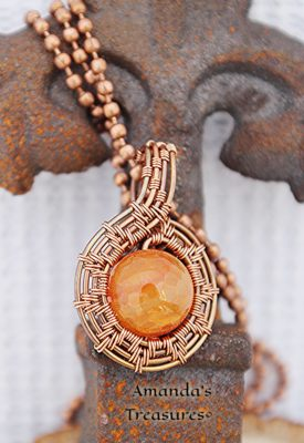 Copper Wired Pendant